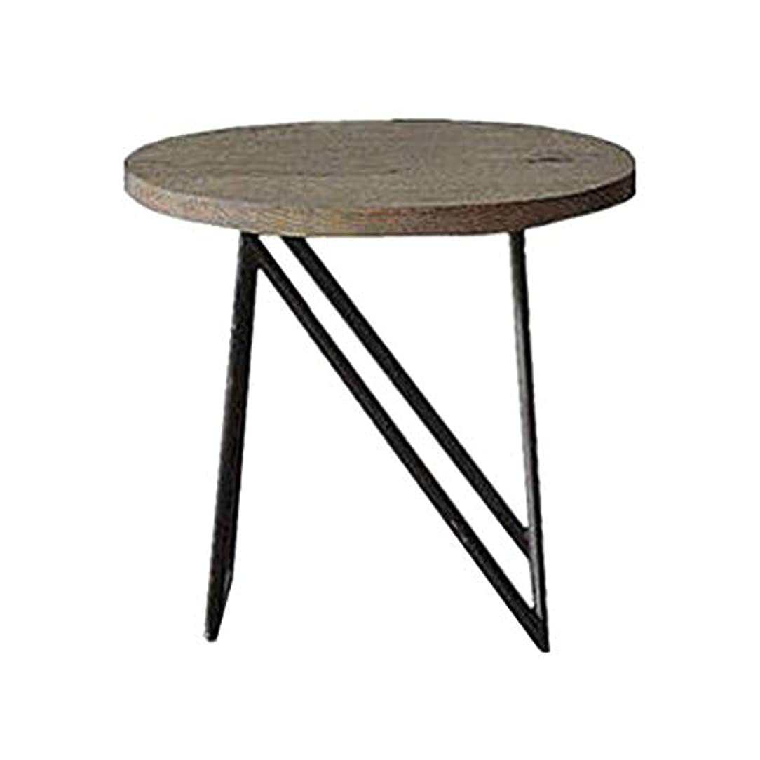 動かすウール姉妹HUO,テーブル 工業用風レトロコーヒーテーブル錬鉄製ベッドサイドソファサイドテーブル電話テーブル - 50 * 40センチメートル
