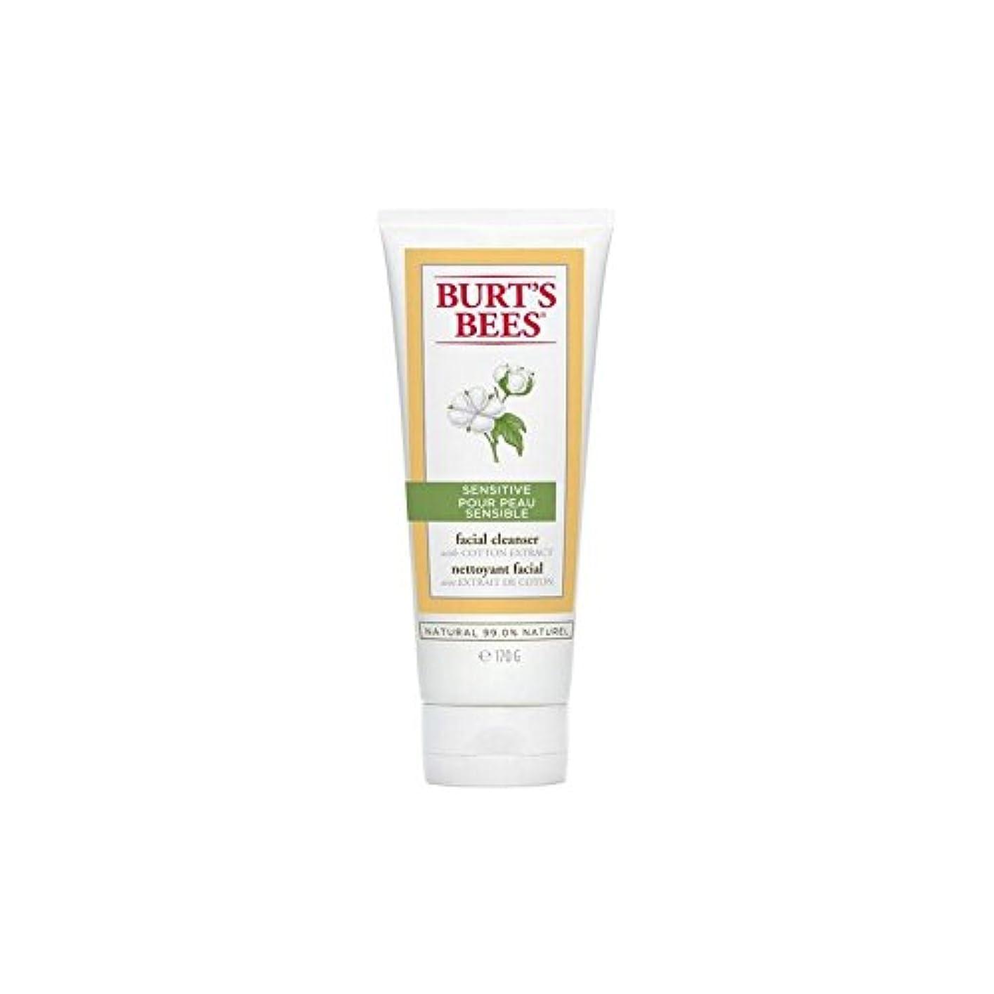 行方不明植物学者連続したBurt's Bees Sensitive Facial Cleanser 170G - バーツビー敏感な洗顔料の170グラム [並行輸入品]