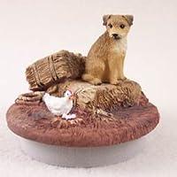 """会話概念ミニチュアBorder Terrier CandleトッパーTiny One """" A Day on theファーム"""" ( Set of 3)"""