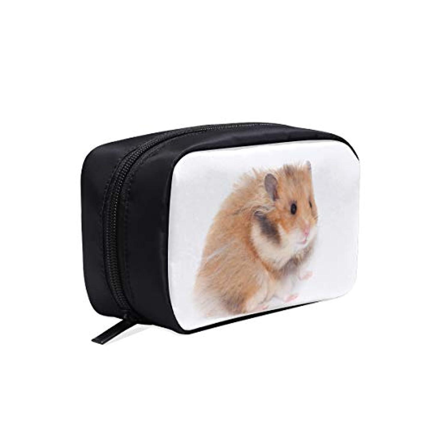 どこにもそれら偉業CWSGH メイクポーチ ハムスター 白 黄 ボックス コスメ収納 化粧品収納ケース 大容量 収納 化粧品入れ 化粧バッグ 旅行用 メイクブラシバッグ 化粧箱 持ち運び便利 プロ用