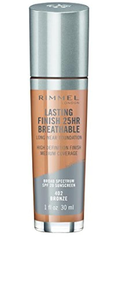 地中海代替もう一度RIMMEL LONDON Lasting Finish 25hr Breathable Foundation - Bronze (並行輸入品)