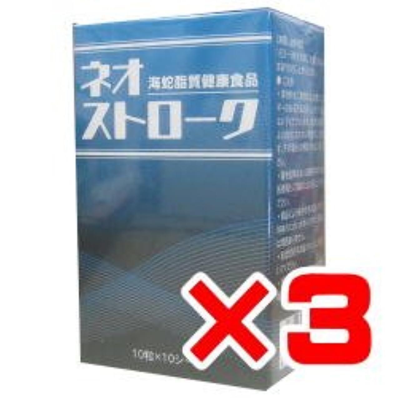 挑む研究所名詞ネオストローク 100粒×3箱セット