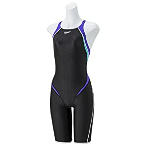 Speedo(スピード) 競泳水着 女の子 オープンバック ニースキン ジュニア フレックスシグマ 2 FINA 承認モデル 140 VS(ヴァイオレット×スキューバ) SD38H08