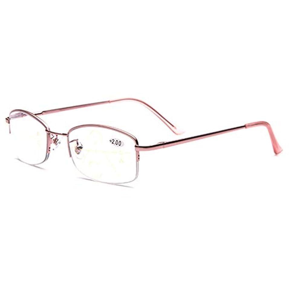 同封するボイド予言するプログレッシブマルチフォーカス老眼鏡、3レベルビジョンリーダー、男性用/女性用、処方箋なしのスプリングヒンジ遠近両用HD光学アイウェア、