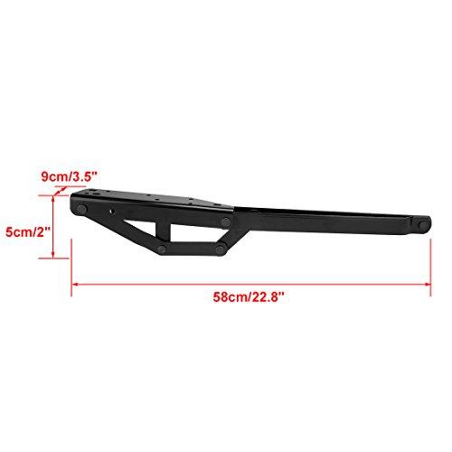 uxcell® Iron Bed Sofa Lift Hinge Frame Furniture Handware Black 1 Pair
