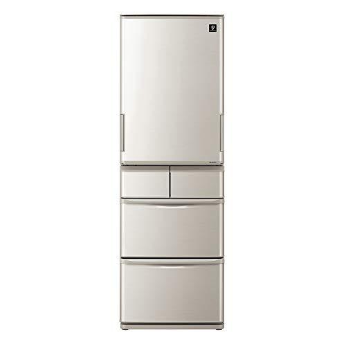 SHARP (シャープ) プラズマクラスター冷蔵庫(幅60.0cm) 412L 両開き 5ドア(両開き・どっちもドア) シルバー系 SJ-W412E-S B07SYQHN8H 1枚目
