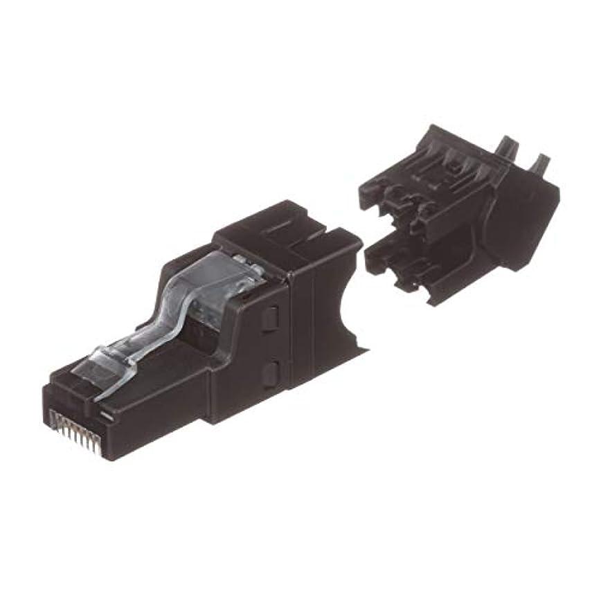 呼吸するメイエラ不利益パンドウイット LANコネクタ CAT6A かんたん成端モジュラープラグ アングルタイプ 10個入り(成端補助工具EGPT 1個付き)FPUD6X88MTG-X
