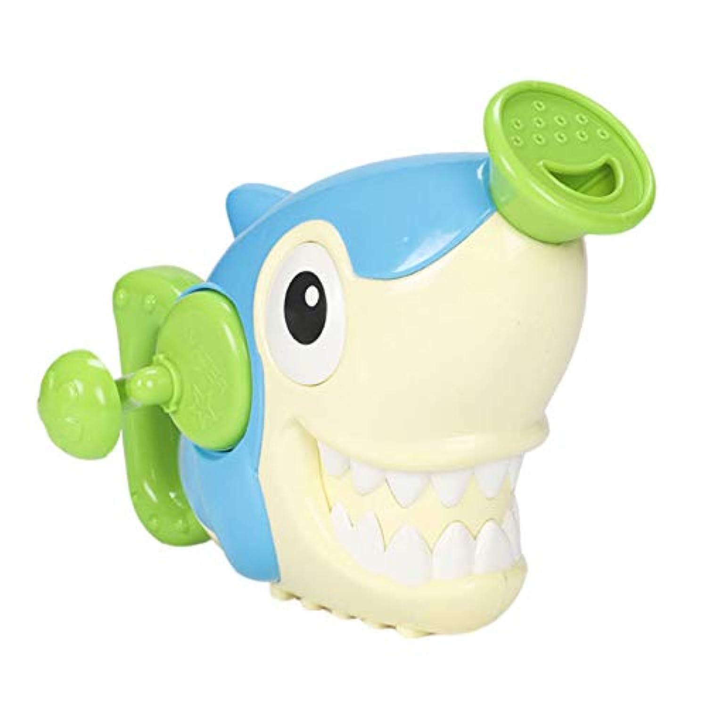 SODIAL じょうろ風呂のおもちゃ、赤ちゃんのための水泳浴室風呂シャワーのツール、水、ハンドのスプレーのおもちゃ、36ヶ月の子供用のおもちゃ、サメ