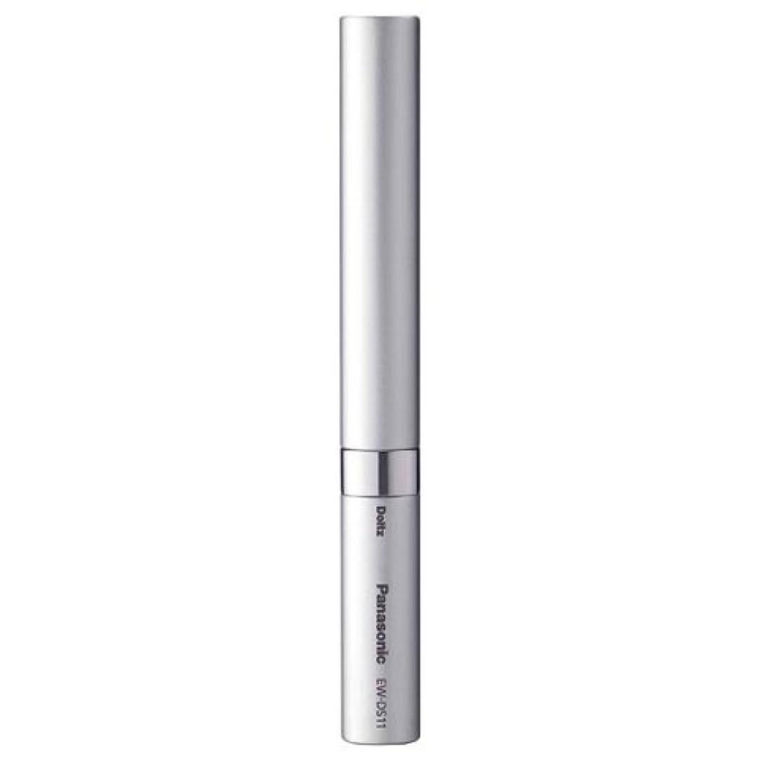乳剤独立した自発パナソニック 音波振動ハブラシ ポケットドルツ シルバー EW-DS11-S