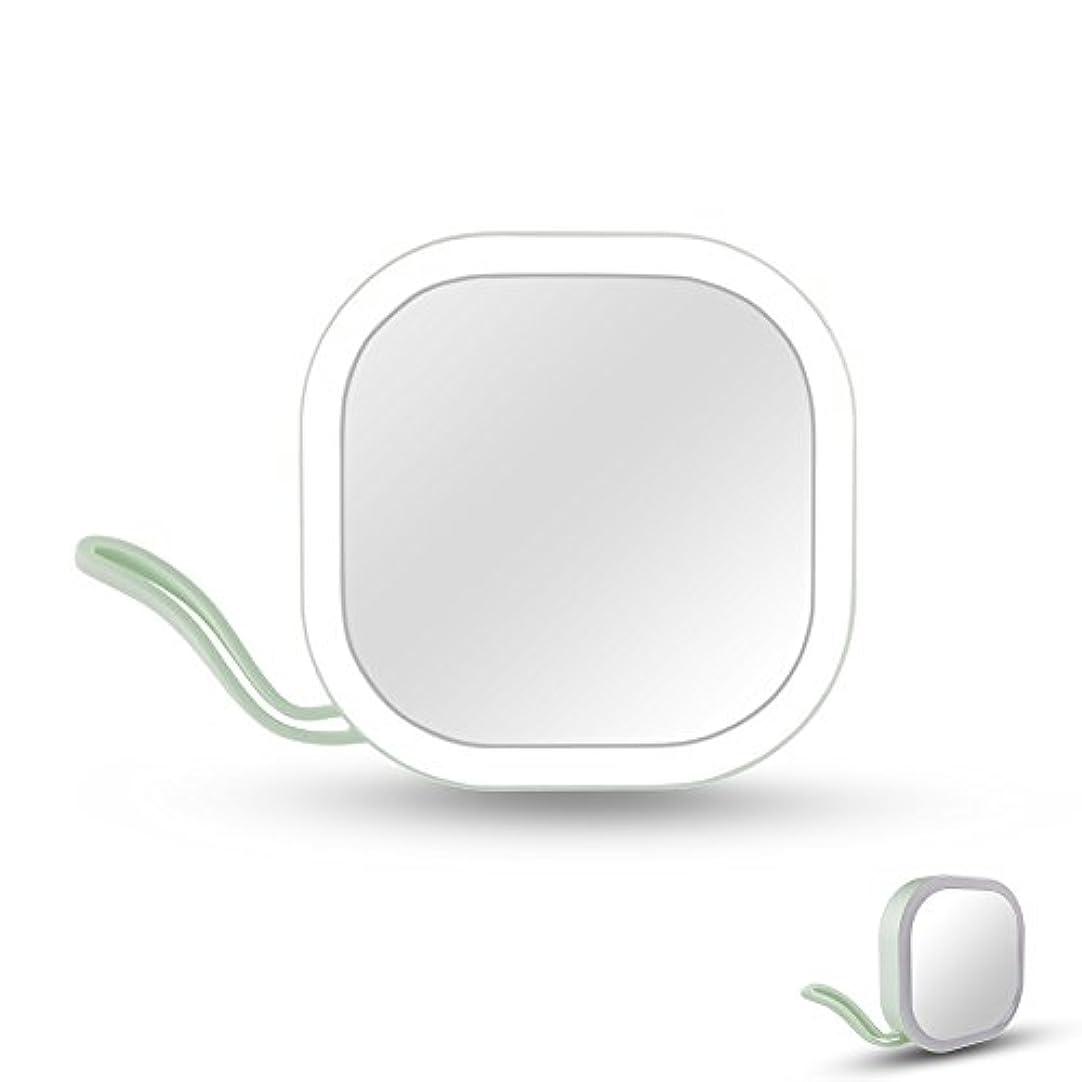 チーム同一性好みIchic LEDミラー 化粧鏡 メイクミラー 携帯用ミラー 手鏡 コンパクト 持運び便利 USB充電