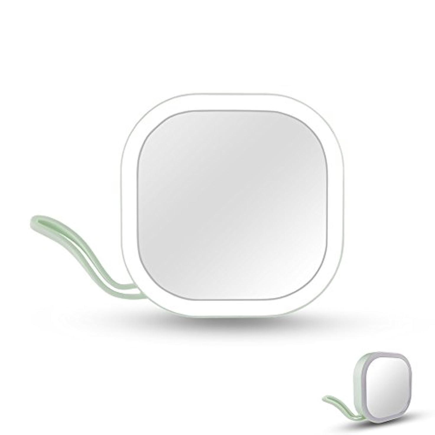 問題組み込む吸収剤Ichic LEDミラー 化粧鏡 メイクミラー 携帯用ミラー 手鏡 コンパクト 持運び便利 USB充電