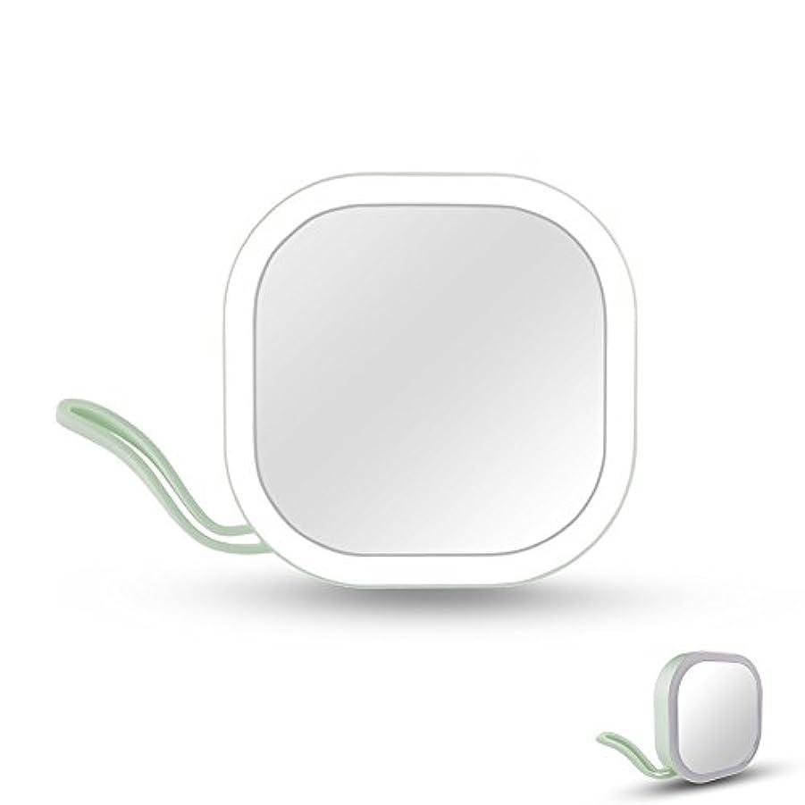入口イベント知るIchic LEDミラー 化粧鏡 メイクミラー 携帯用ミラー 手鏡 コンパクト 持運び便利 USB充電
