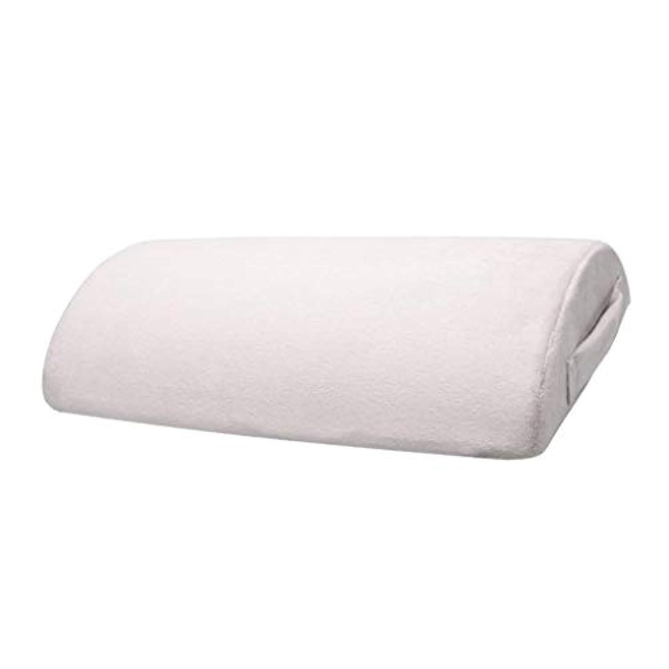 リル作りますオフェンス足枕 クッション フットレスト 足置き フットレストピロー ハーフシリンダー形 全2カラー - グレー