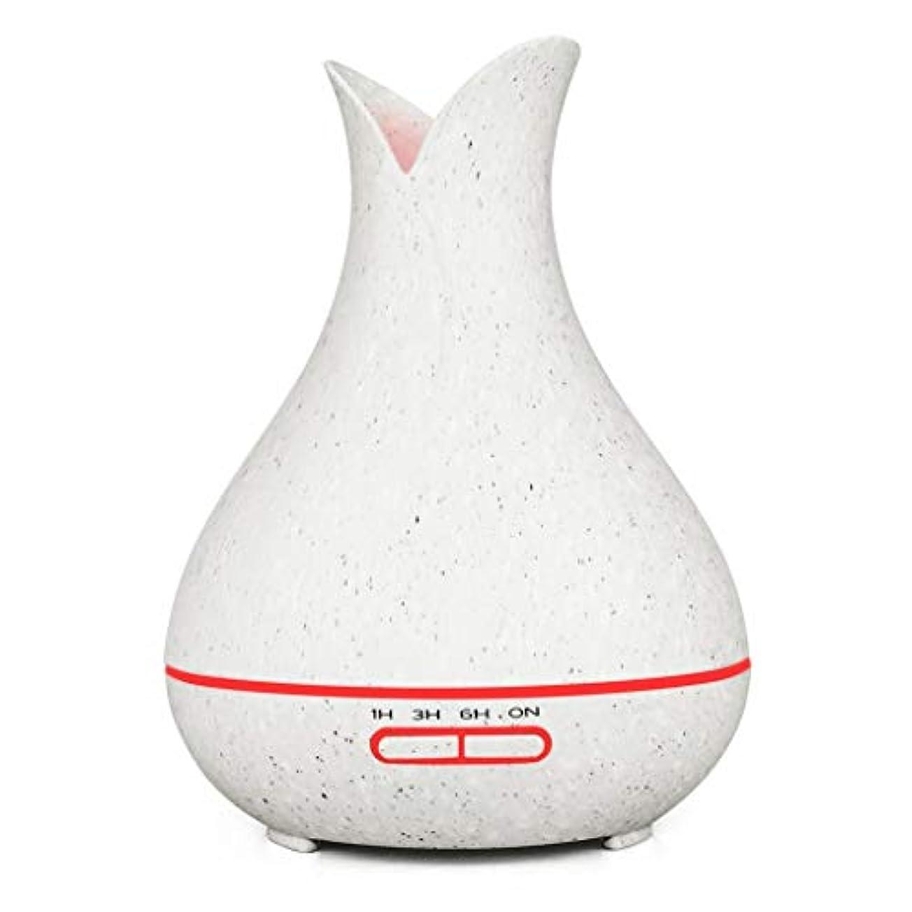 氷礼拝司法ウッドグレインディフューザー400ミリリットルプレミアム超音波加湿器で素晴らしいledライトディフューザー用ホームヨガオフィススパ寝室ベビールーム (Color : 2)