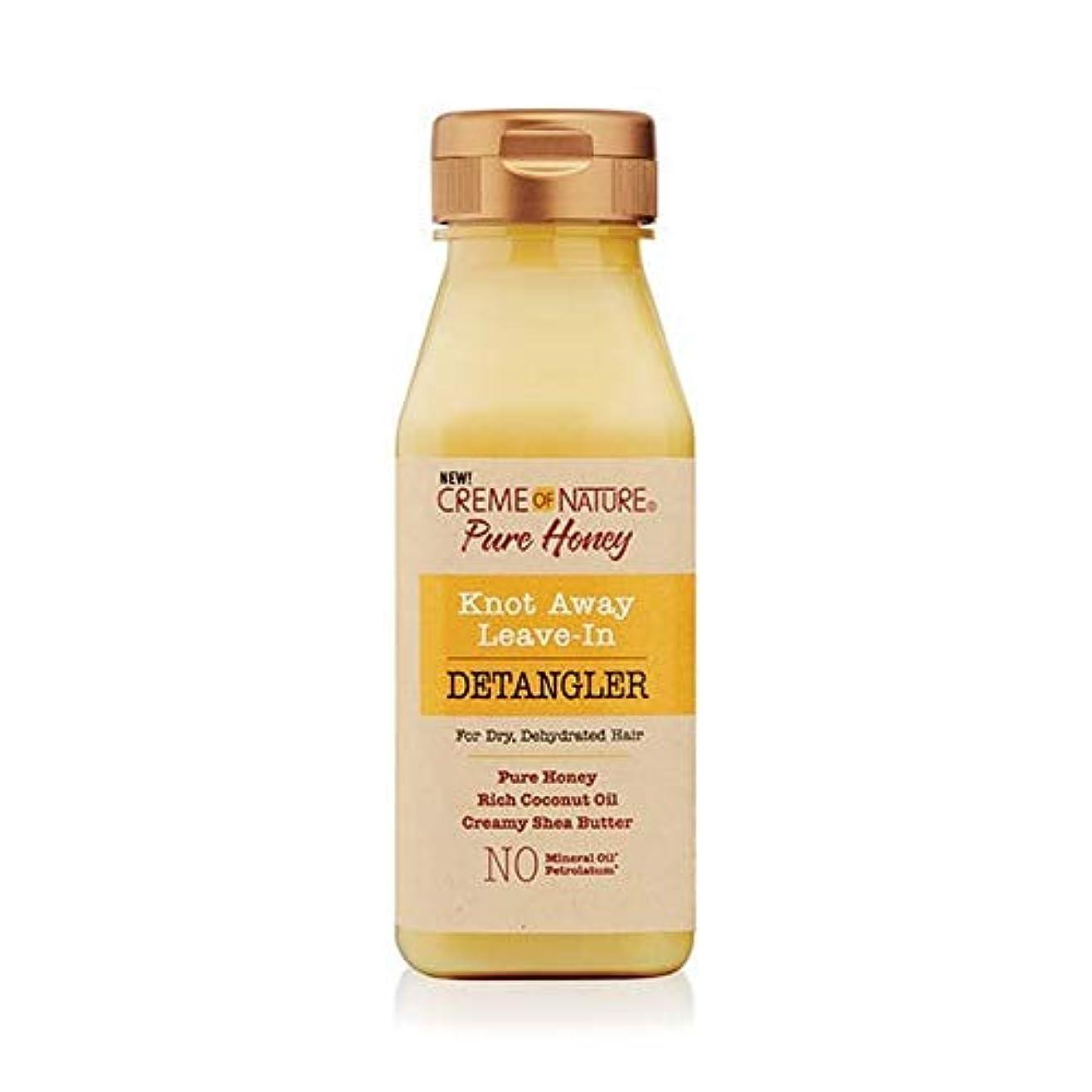 ミルク化学者良性[Creme of Nature ] 自然の純粋な蜂蜜の結び目のクリームは離れDetanglerに残します - Creme of Nature Pure Honey Knot Away Leave in Detangler...