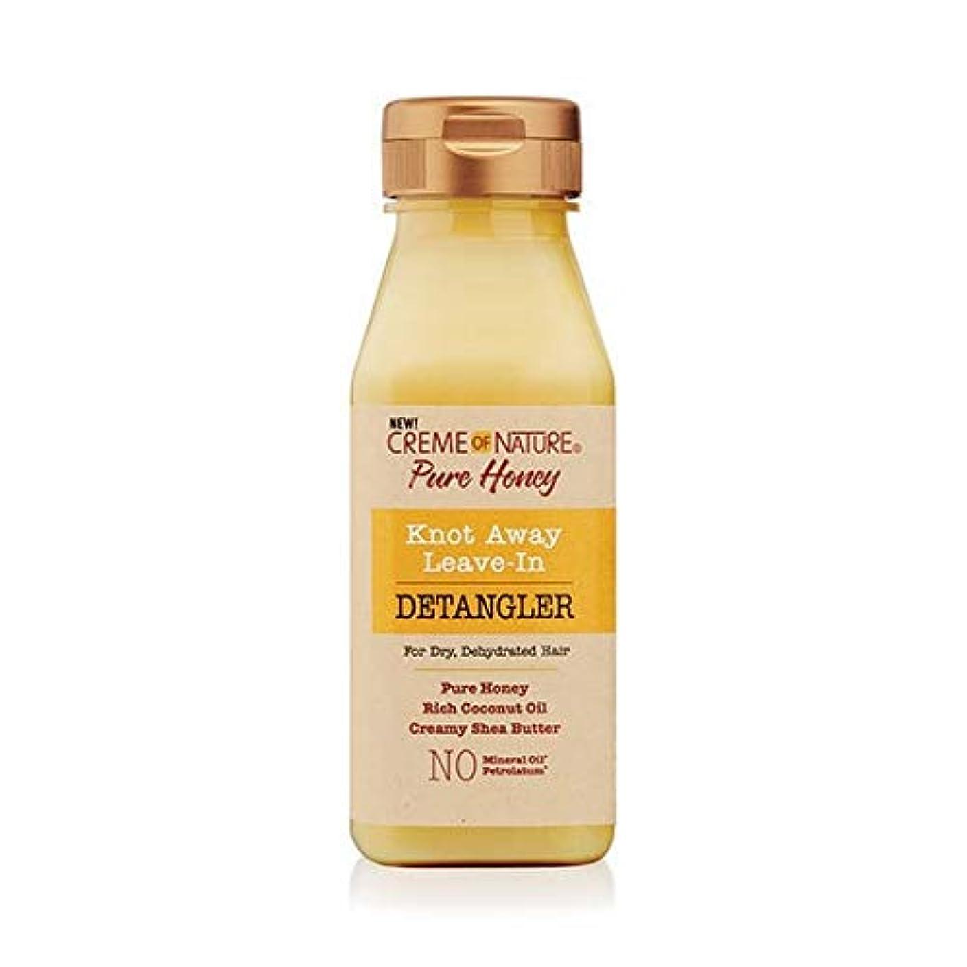 下着晩餐シングル[Creme of Nature ] 自然の純粋な蜂蜜の結び目のクリームは離れDetanglerに残します - Creme of Nature Pure Honey Knot Away Leave in Detangler...