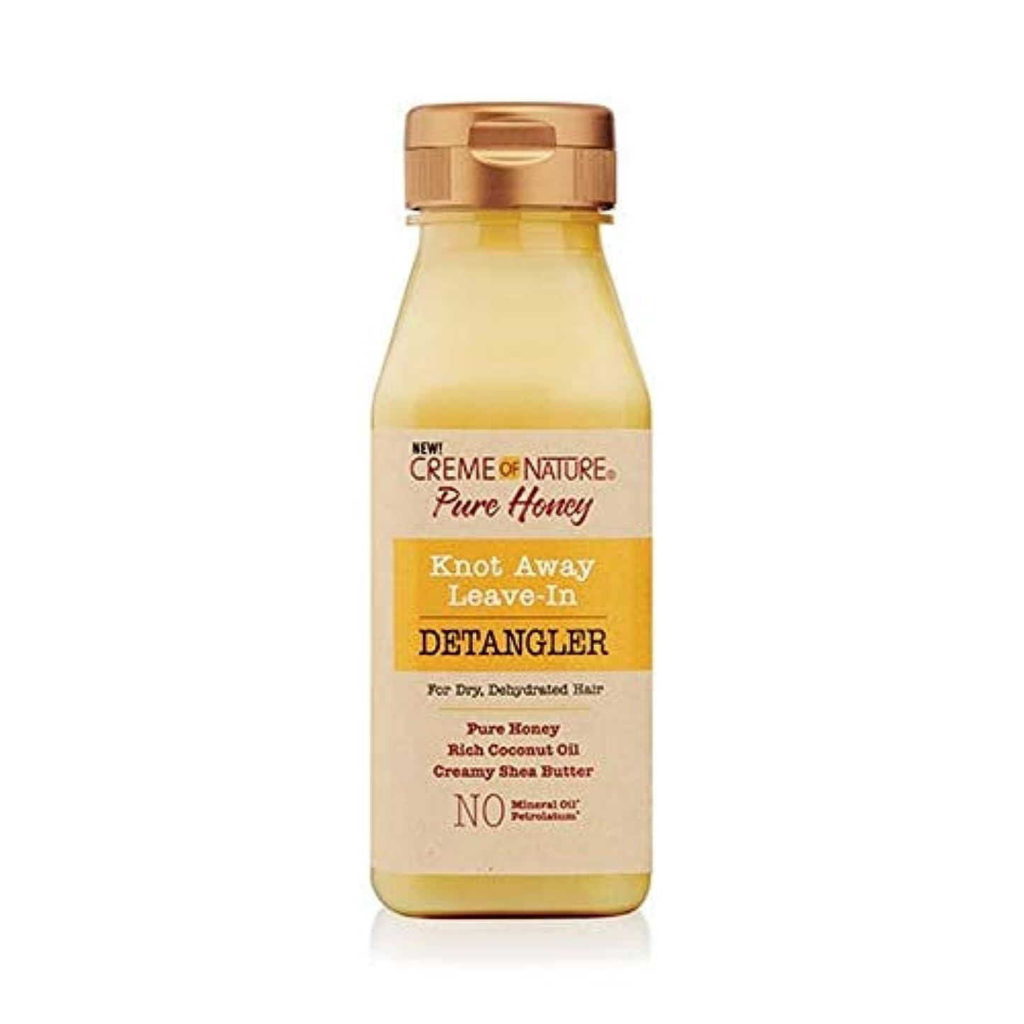 その他荒廃するパンダ[Creme of Nature ] 自然の純粋な蜂蜜の結び目のクリームは離れDetanglerに残します - Creme of Nature Pure Honey Knot Away Leave in Detangler...