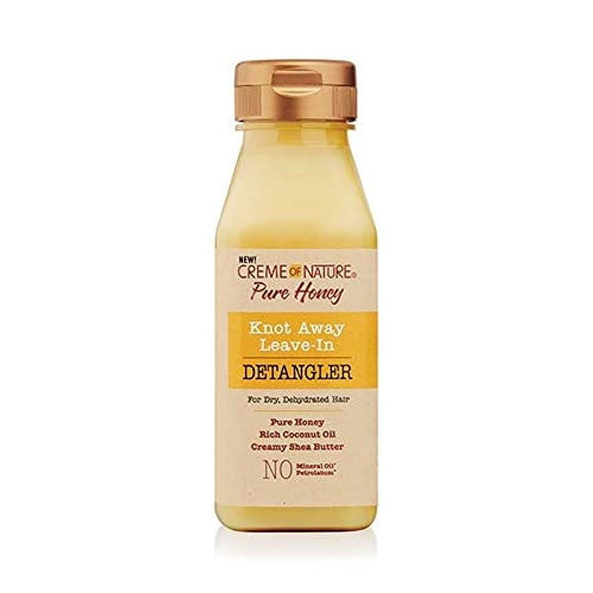 掃くにぎやかラケット[Creme of Nature ] 自然の純粋な蜂蜜の結び目のクリームは離れDetanglerに残します - Creme of Nature Pure Honey Knot Away Leave in Detangler...