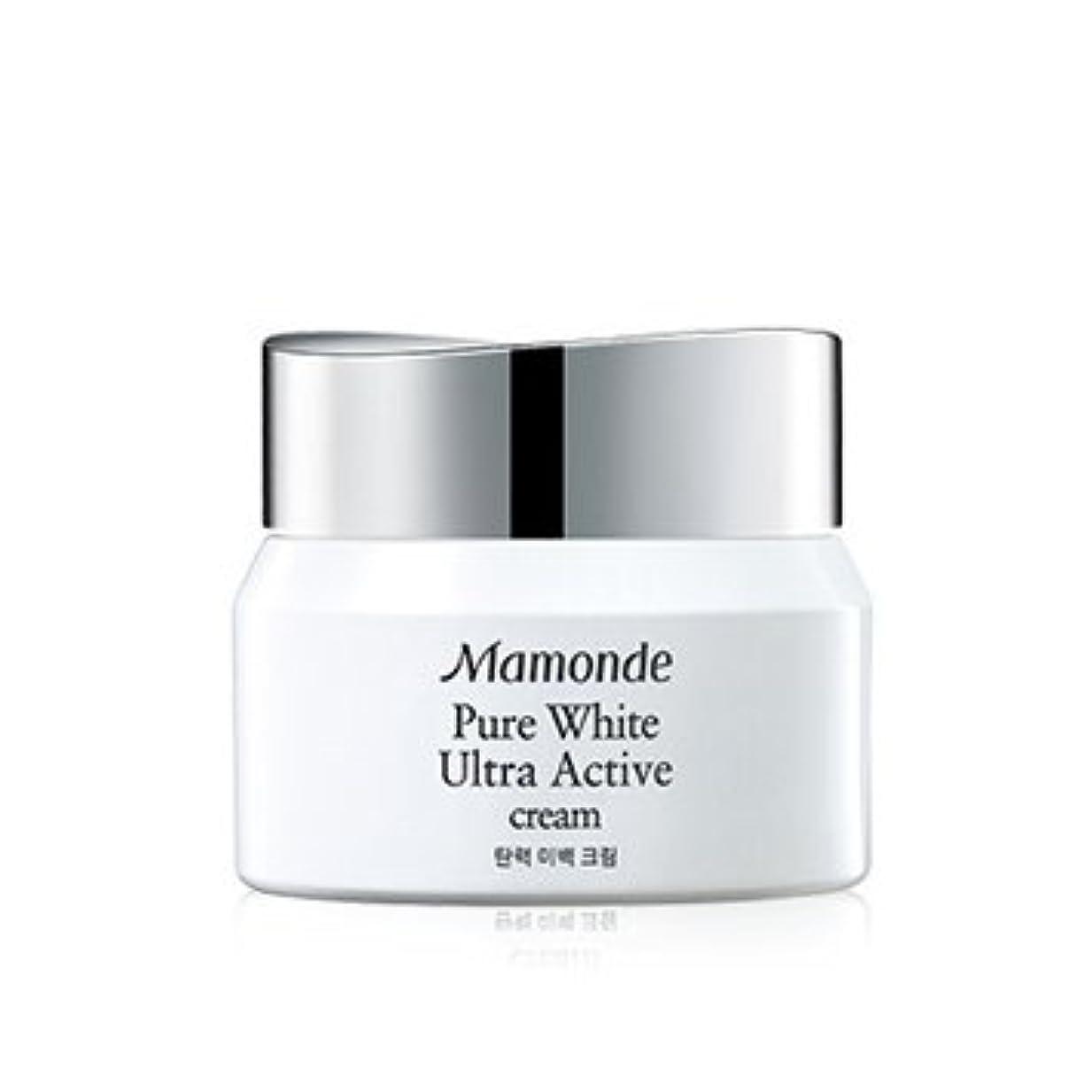 有彩色の若さ上がるMamonde Pure White Ultra Active Cream 50ml/マモンド ピュア ホワイト ウルトラ アクティブ クリーム 50ml [並行輸入品]