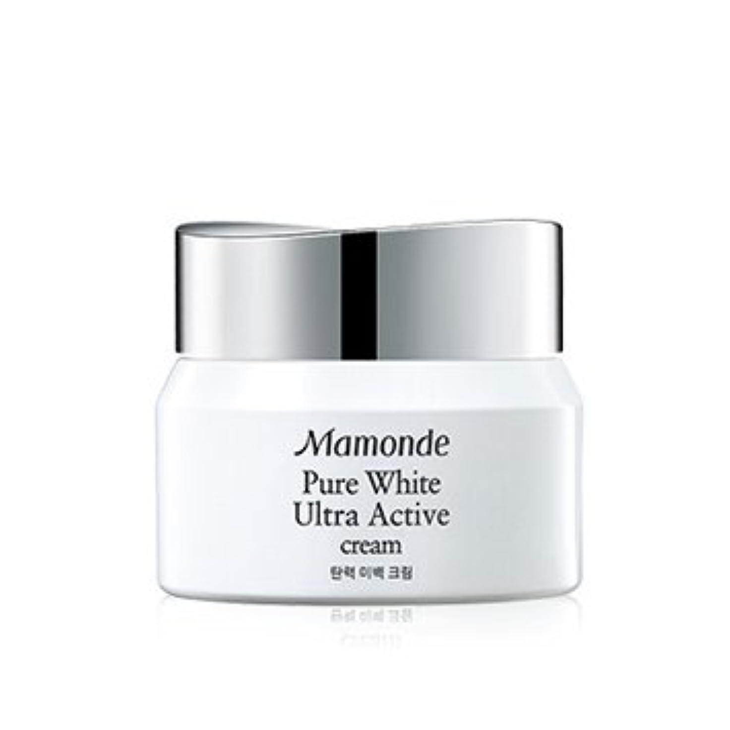 シェルターライバル草Mamonde Pure White Ultra Active Cream 50ml/マモンド ピュア ホワイト ウルトラ アクティブ クリーム 50ml [並行輸入品]