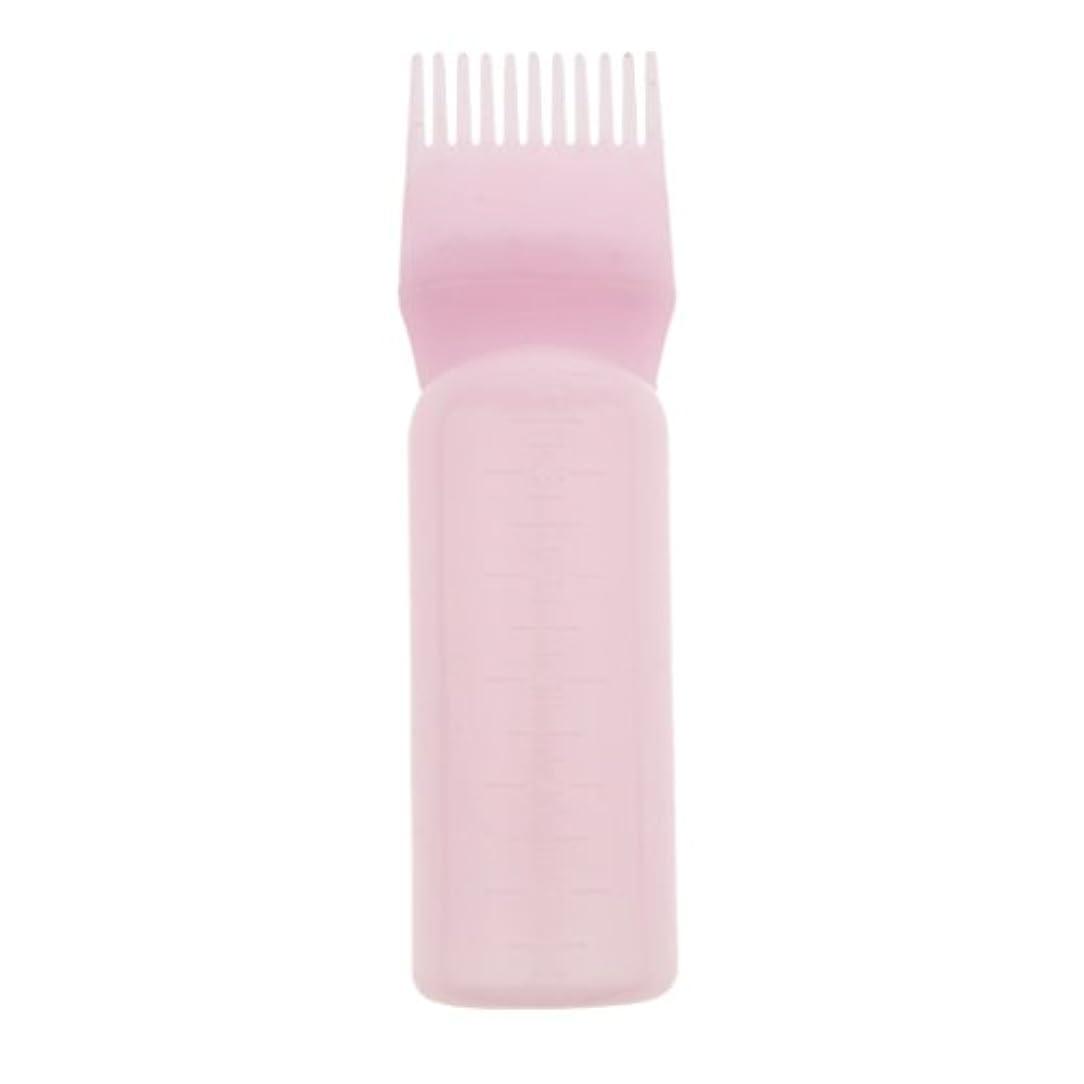 DYNWAVE 髪染め ヘアカラー ヘアダイ ボトル ディスペンサーブラシ ヘアサロン 2タイプ選べる - ピンク