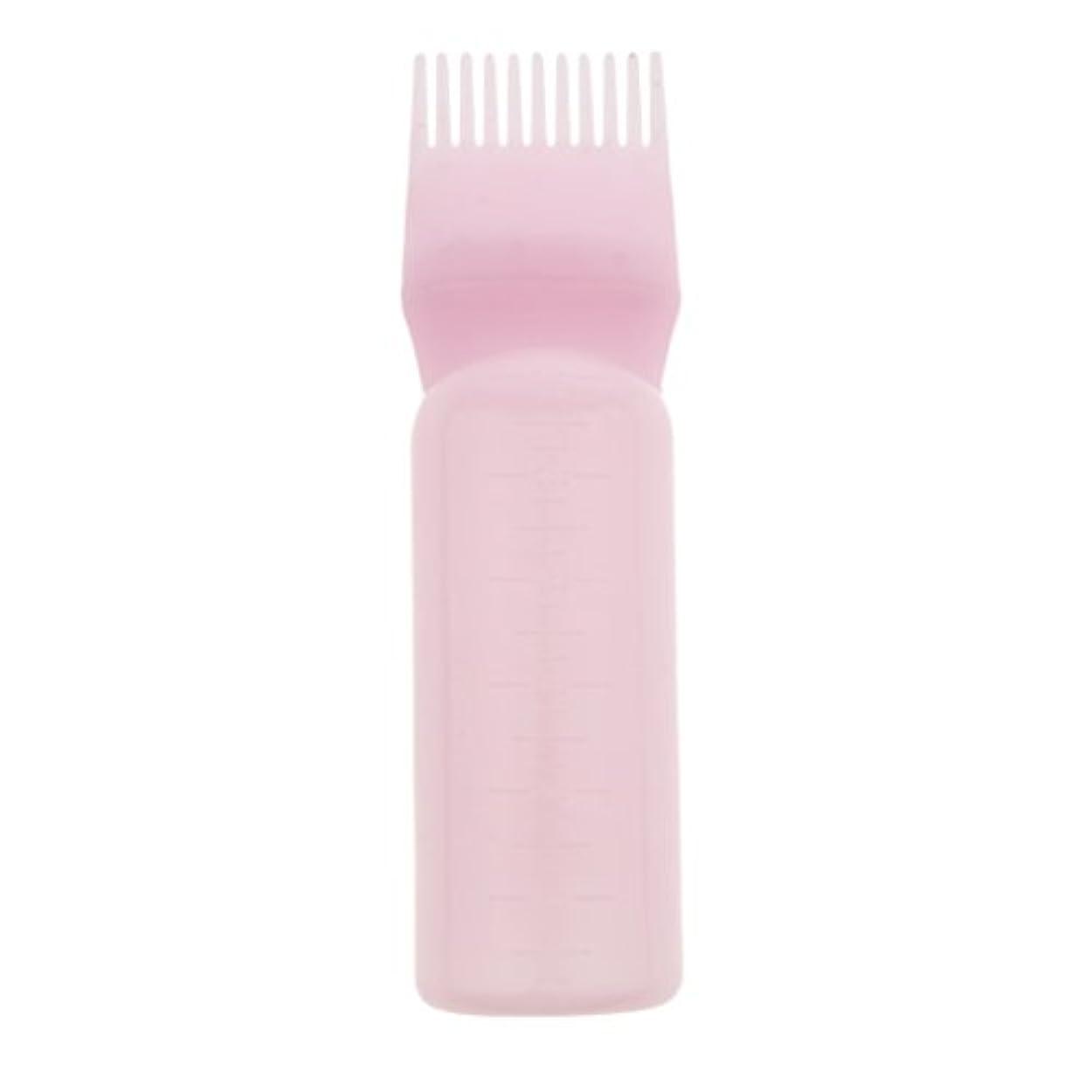 岩換気純度髪染め ヘアカラー ヘアダイ ボトル ディスペンサーブラシ ヘアサロン 2タイプ選べる - ピンク