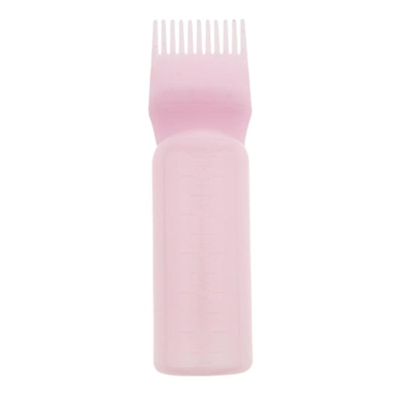 酸っぱい寝室を掃除する信頼髪染め ヘアカラー ヘアダイ ボトル ディスペンサーブラシ ヘアサロン 2タイプ選べる - ピンク