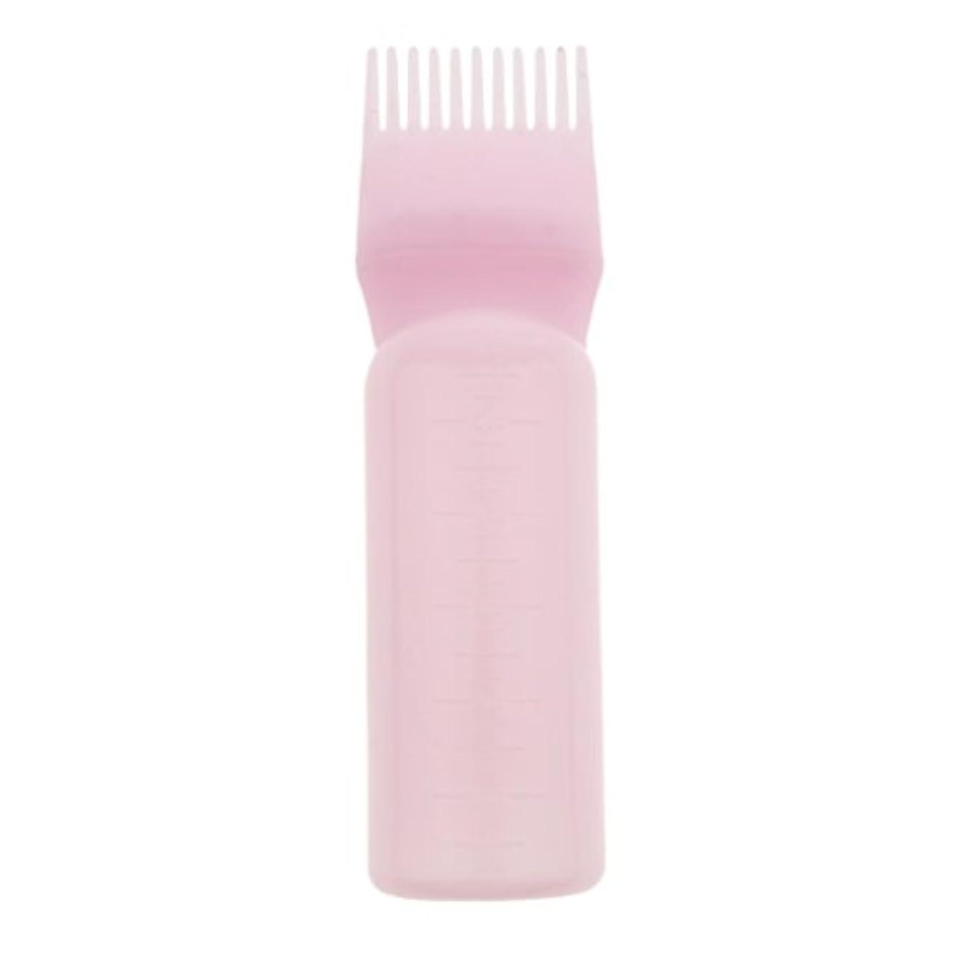 仕方石炭解決する髪染め ヘアカラー ヘアダイ ボトル ディスペンサーブラシ ヘアサロン 2タイプ選べる - ピンク