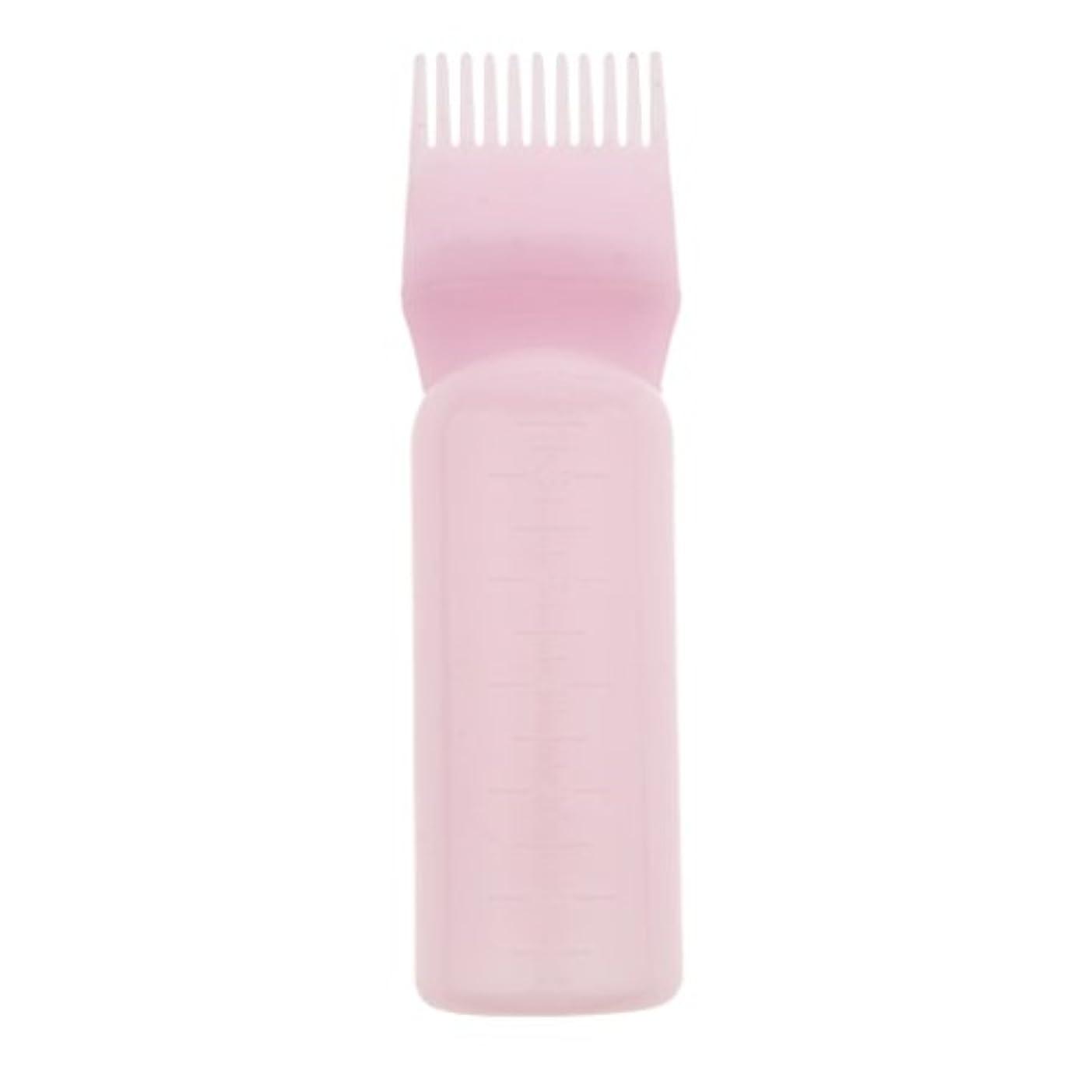 豊かな光沢のある迷路髪染め ヘアカラー ヘアダイ ボトル ディスペンサーブラシ ヘアサロン 2タイプ選べる - ピンク