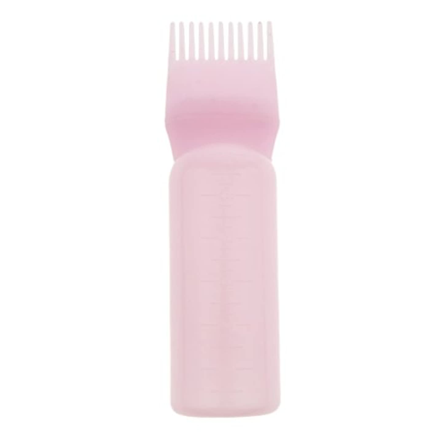 暗殺者写真の皮髪染め ヘアカラー ヘアダイ ボトル ディスペンサーブラシ ヘアサロン 2タイプ選べる - ピンク