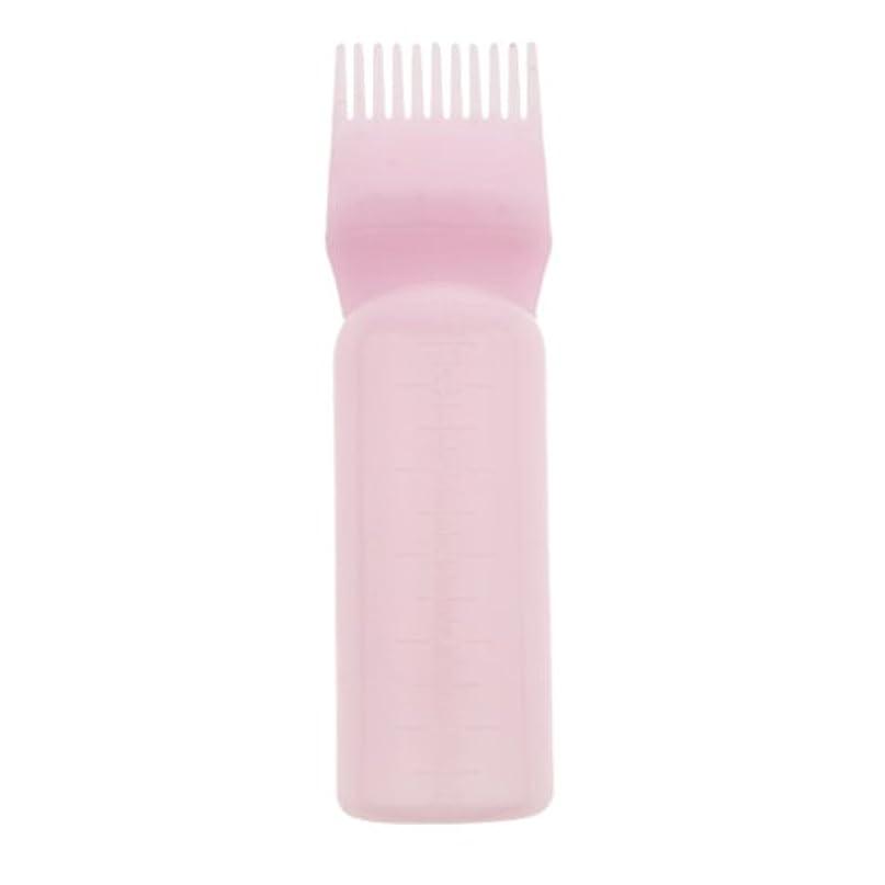 噴出する鎖アウトドアDYNWAVE 髪染め ヘアカラー ヘアダイ ボトル ディスペンサーブラシ ヘアサロン 2タイプ選べる - ピンク