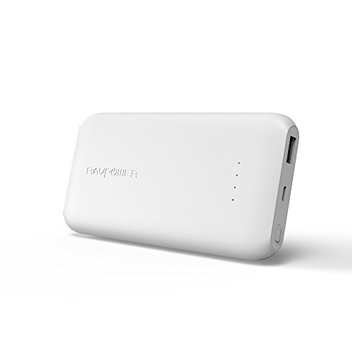 RAVPower 10000mAh モバイルバッテリー QC 軽量 薄型 (Quick Charge 3.0 入力・出力、2.4A 急速充電) 高品質な電池使用 18ヶ月間安心保証 iPhone/Android 各種対応 地震/災害/旅行/出張/アウトドア活動携帯充電器 RP-PB077 白