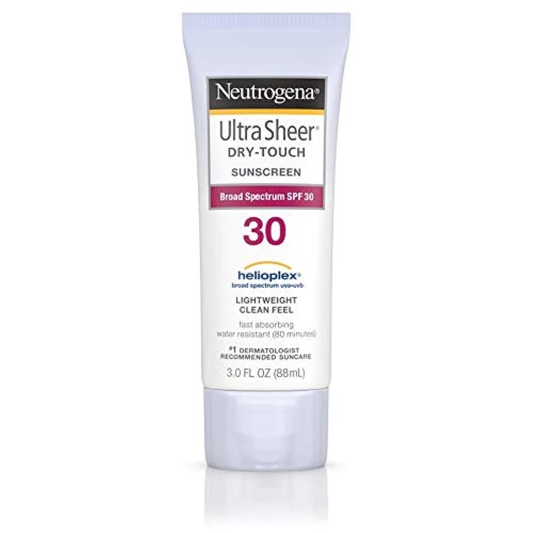 古くなった慎重にホイップNeutrogena Ultra Sheer Sunblock Dry Touch SPF 30 (並行輸入品)