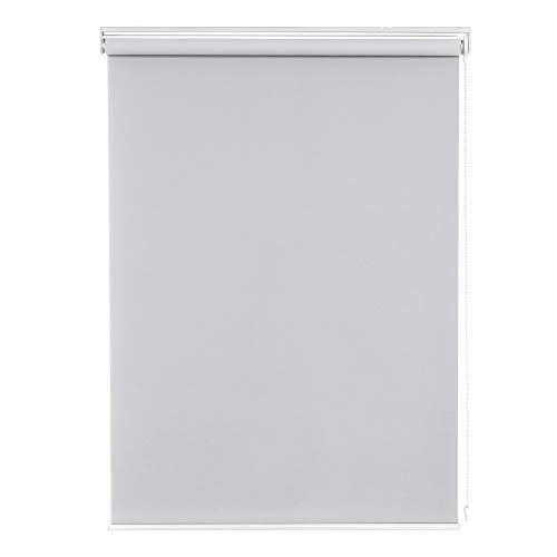 Deconovo ロールスクリーン 1級遮光 断熱 遮熱 防音 UVカット 13サイズ 4カラー 幅60cm 丈90cm グレー