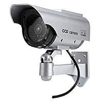 ダミーカメラ 太陽光パネル搭載で半永久的に使用可能 防犯 ダミーカメラ LED 常時点滅で不審者を追い出す by Ashnna