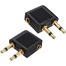 Sungpunet 2X Golden Plated Airline Airplane Flight Adapter