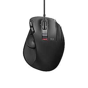 ELECOM マウス トラックボール 有線 5ボタン チルト機能 握りの極み ブラック M-XT1URBK