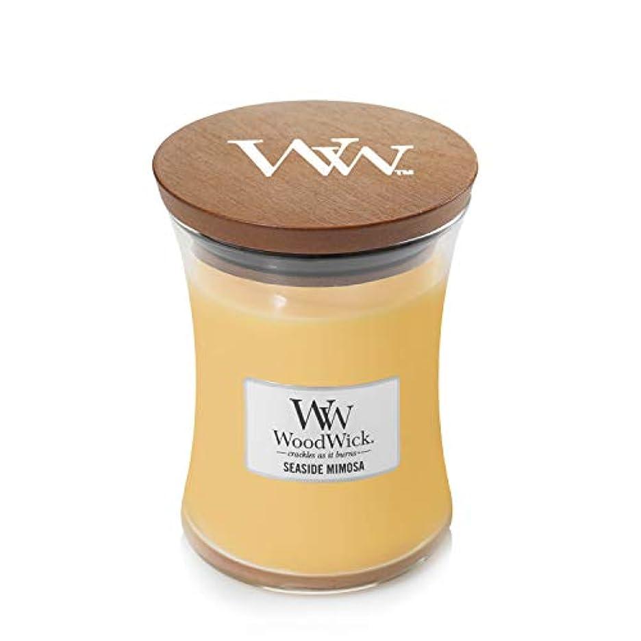 熟達芽四Woodwick SeasideミモザJar Candle、ミディアム