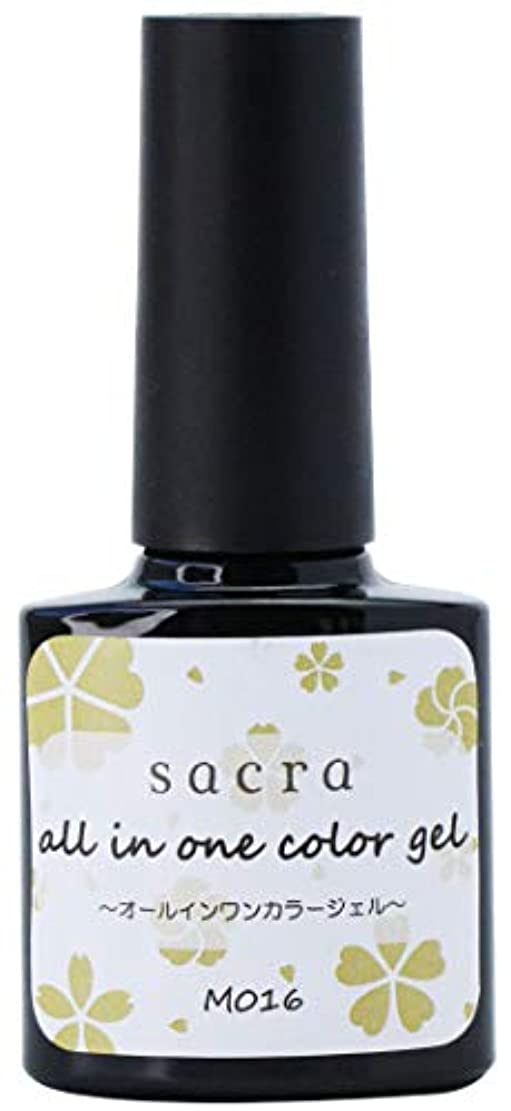 サイドボード乱気流狂うsacra(サクラ) sacraオールインワンカラージェル M016 ジェルネイル 6ml