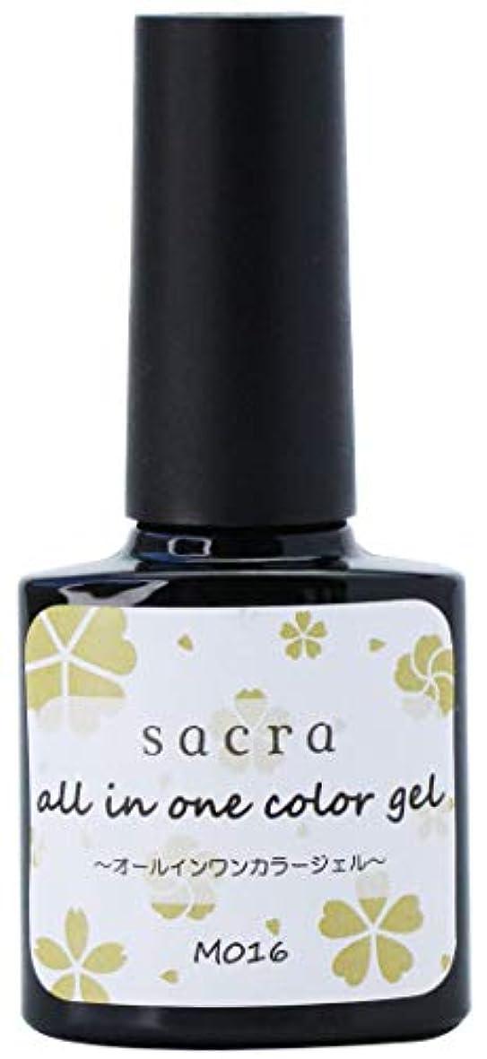 窒息させる不愉快代わりのsacra(サクラ) sacraオールインワンカラージェル M016 ジェルネイル 6ml