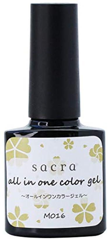 短くするイチゴ東部sacra(サクラ) sacraオールインワンカラージェル M016 ジェルネイル 6ml