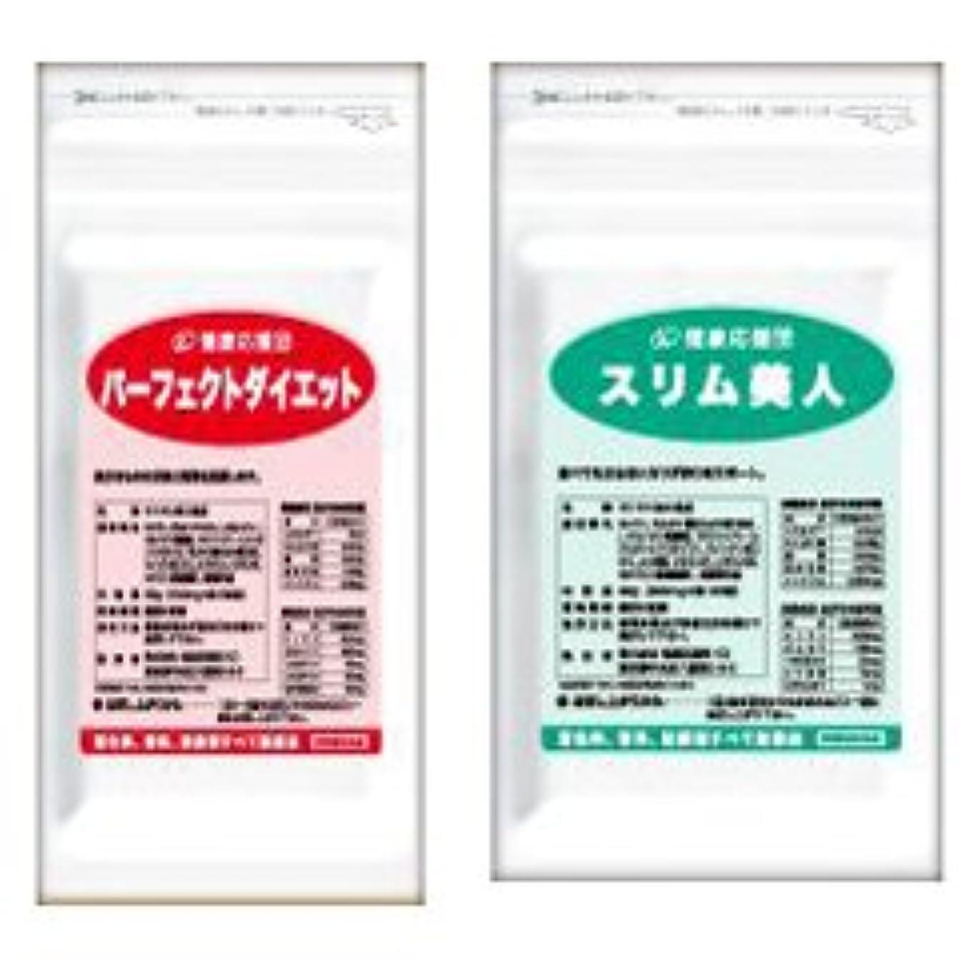格納小数賠償ダイエットセット パーフェクトダイエット + スリム美人 (キトサン、ガルシニアエキス、L-カルニチン、L-オルニチン、αリポ酸、レジスタントプロテイン配合)