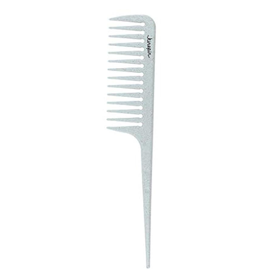 口述素子損なうヘアスタイリストコーム ヘアテールチップ ヘアサロン 美容師 静電気防止櫛 耐熱櫛 4色選べ - 青