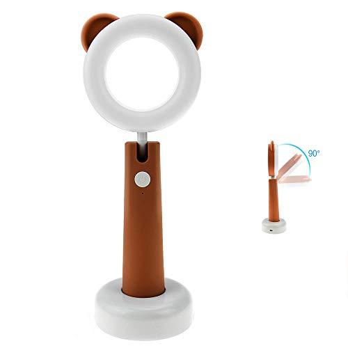 デスクライト BestFire ベッドランプ 3モード調光 LEDランプ目に優しい 卓上ライト 一時間タイマー機能付き 角度調整可能 仕事/勉強 USB充電式 ブラウン