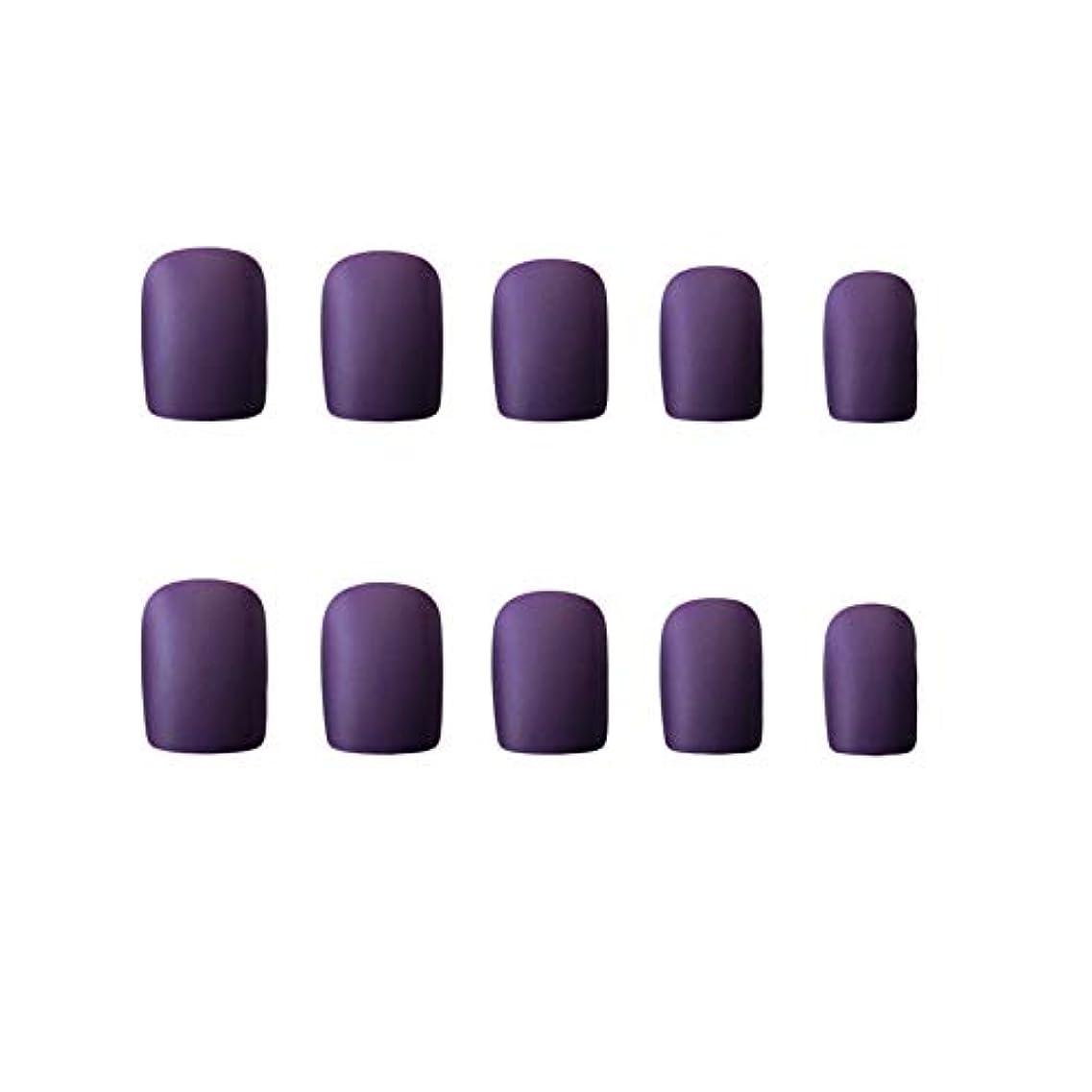 硬さ頑丈署名VALEN Nail Patch ネイルチップ 24枚セット 偽爪 マットネイルチップ 12別サイズ 手作りネイルチップ デコレーション ネイルチップ つけ爪 24枚入 シンプル