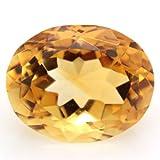 ブラジル産 天然シトリン(黄水晶) オーバルカット ルース 3.69ct 《ov_190size》
