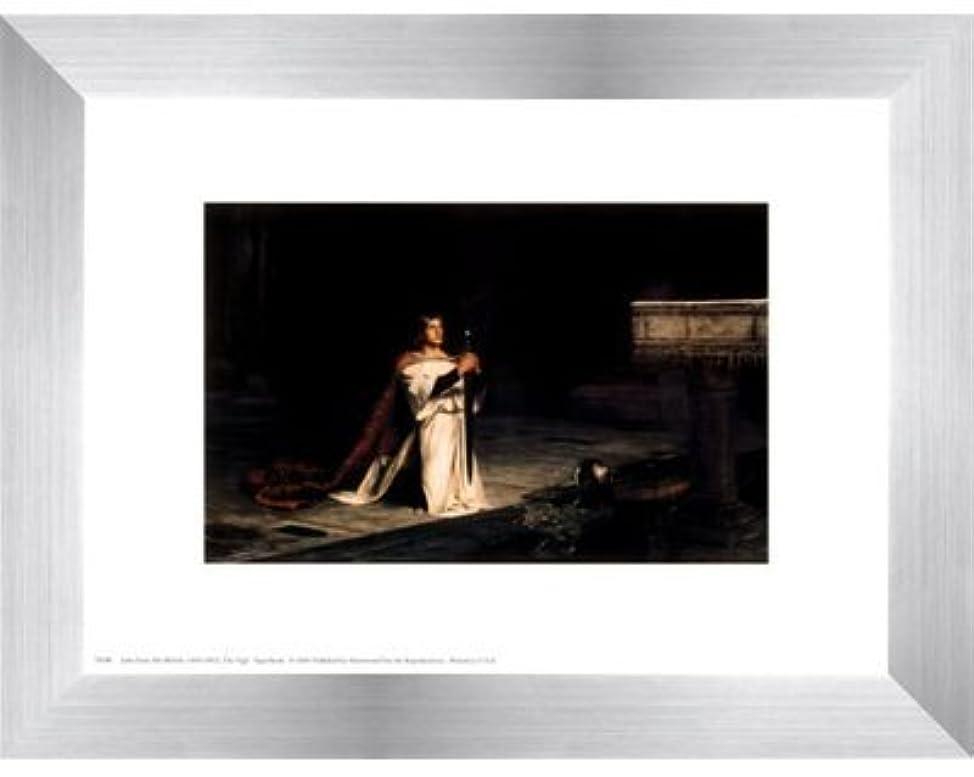 乳白石油進捗The Vigil by John Pettie – 10 x 8インチ – アートプリントポスター LE_28325-F9935-10x8