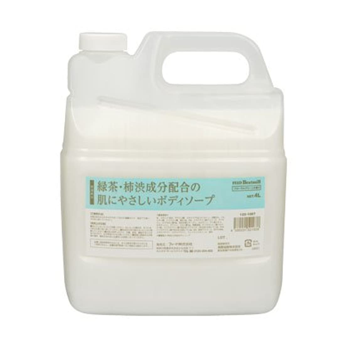 飢タイプそのような【業務用】 FEED(フィード) 緑茶?柿渋成分配合の肌にやさしいボディソープ/4L 石けん 入数 1本
