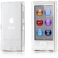 【2点セット】Apple iPod nano 7 クリスタル カバー ケース (両面保護) アイポッドナノ 2012年 第7世代 iPod nano 7th 対応 + 液晶保護フィルム1枚【Clear(クリア)】
