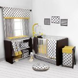Best Bacati布団セット - Bacati - Dots/pin Stripes Grey/yellow 10 Pc Crib Review